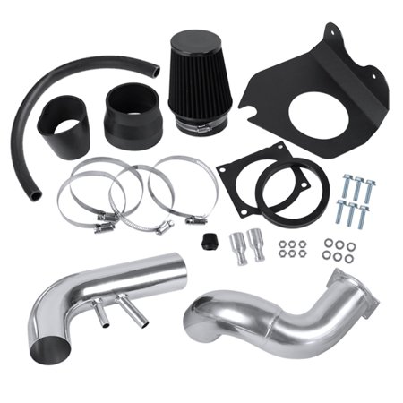 Spec-D Tuning For 1996-2004 Ford Mustang GT 4.6L V8 Cold Air Intake System Piping+Black Filter 1997 1998 1999 2000 2001 2002 2003 (2000 Ford F250 Cold Air Intake)