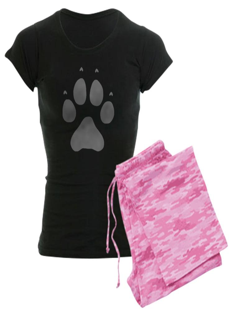 7b956098b36b CafePress - CafePress - Wolf Paw Print - Women's Dark Pajamas - Walmart.com