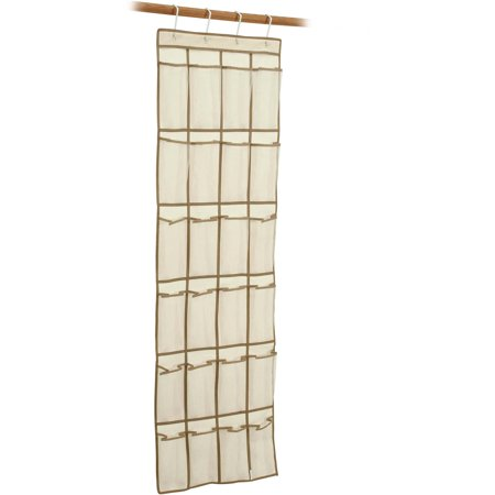 - Mainstays 24-Pocket Canvas Organizer and 10-Shelf Canvas Organizer Combo Pack, Brownstone Trim