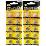 2pc 10pk Exell EB-L1131 Alkaline 1.5V Watch Battery Replaces AG10 389