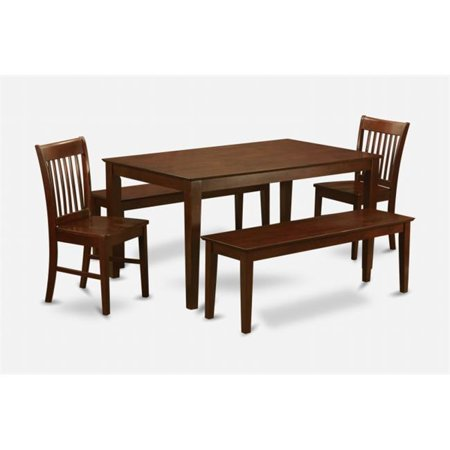 East West Furniture CANO5C-MAH-W 5 Piece Kitchen Table Set-Dinette Table and 4 Kitchen Chairs