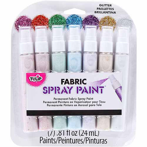 Tulip Fabric Mini Spray Paint Kit, Glitter