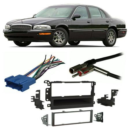 Install Dash Kit Buick Park - Fits Buick Park Avenue 1995-2005 Single DIN Harness Radio Install Dash Kit
