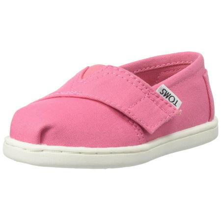 toms 10009918 :  baby girls alpargata slip on flat pink (7 m us toddler) - Pink Toms Toddler