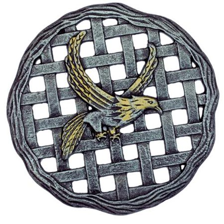 Premium Cast Aluminum Stepping Stone Eagle Antique Pewter Color, 6 Pack of Stepping Stones