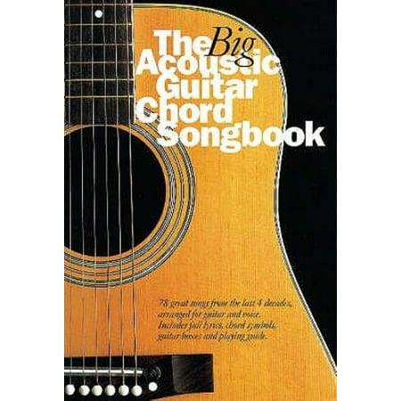 Guitar Chord Songbook Book - The Big Acoustic Guitar Chord Songbook (Paperback)