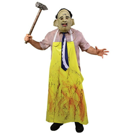 The Texas Chainsaw Massacre Adult Leatherface Halloween Costume](Halloween Saw Face)