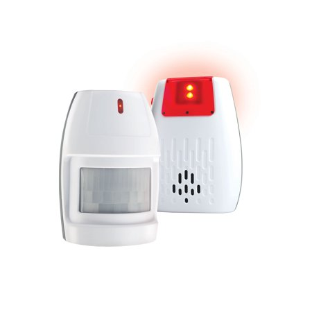 U.S. Patrol Wireless Watchdog Outdoor Motion Detector - Security Monitor with Receiver Alerts to Visitors On