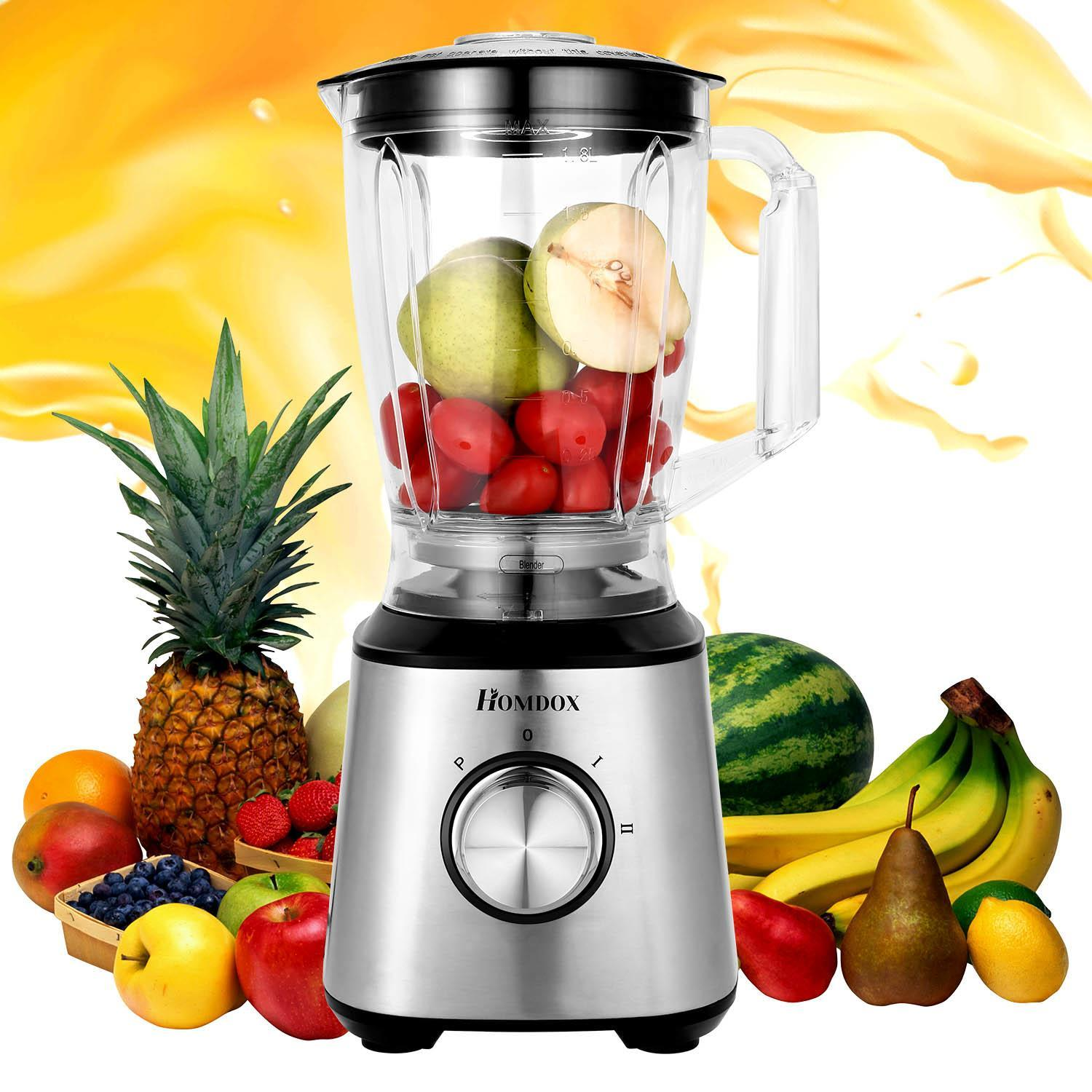 800W Blender 3-in-1 with Food Processor Attachment and1.8L Personal Blending Cup
