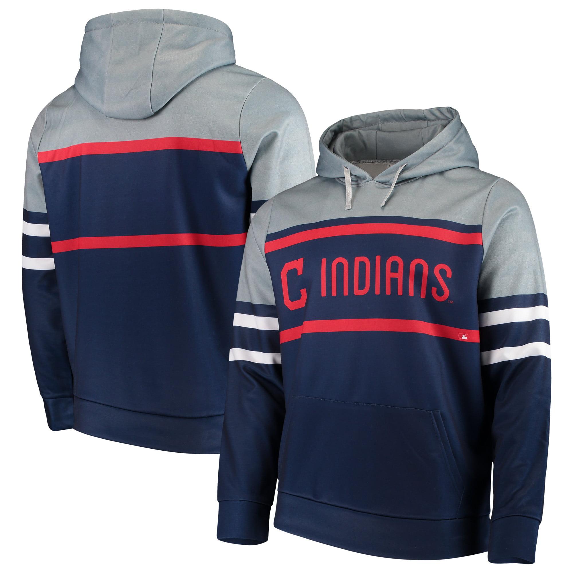 Cleveland Indians Fleece Pullover Hoodie - Navy