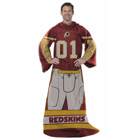 Washington Redskins Comfy Throw Blanket With Sleeves Playe Interesting Redskins Throw Blanket