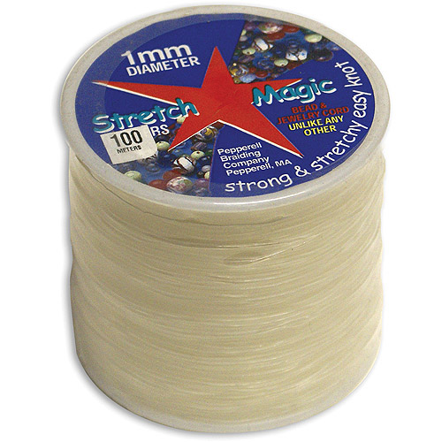 Stretch Magic Bead & Jewelry Cord 1mm 100 Meters/pkg, Clear