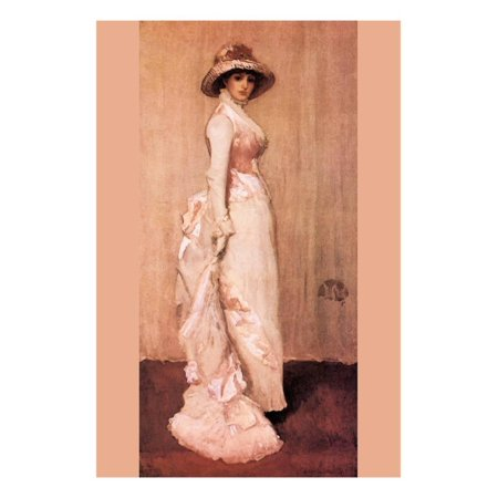 Nocturne in Pink and Gray, Portrait of Lady Meux Print Wall Art By James Abbott McNeill