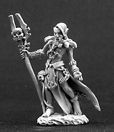 Reaper Miniatures Nanuranidd Dark Elf Sorcerer 03247 Dark Heaven Unpainted Mini