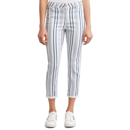 Cashmere Striped Jeans (Preston High Rise Skinny Ankle Jean Women's (Striped) )