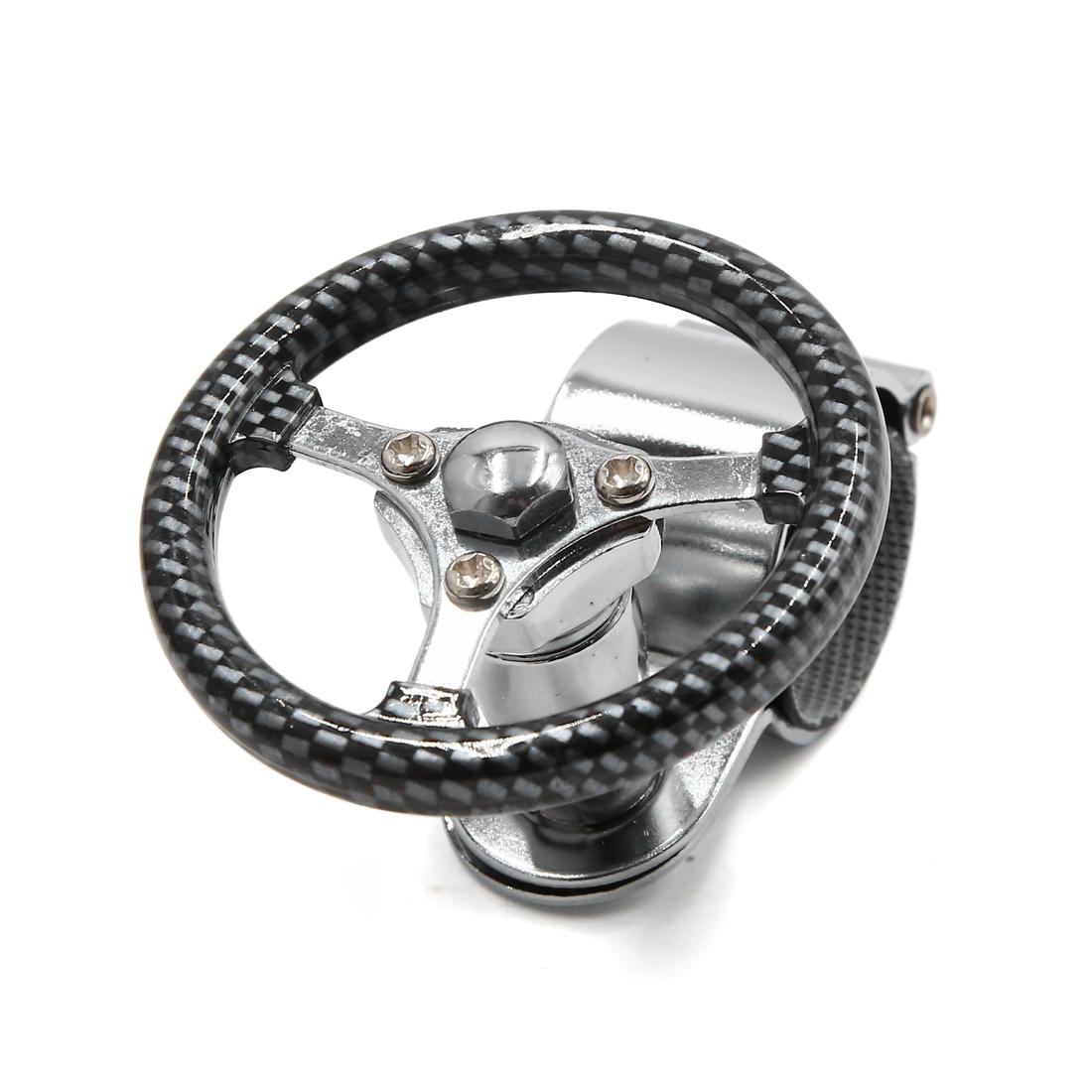 Car Steering Wheel Knob  Handle Power Turning Ball Carbon Fiber Pattern