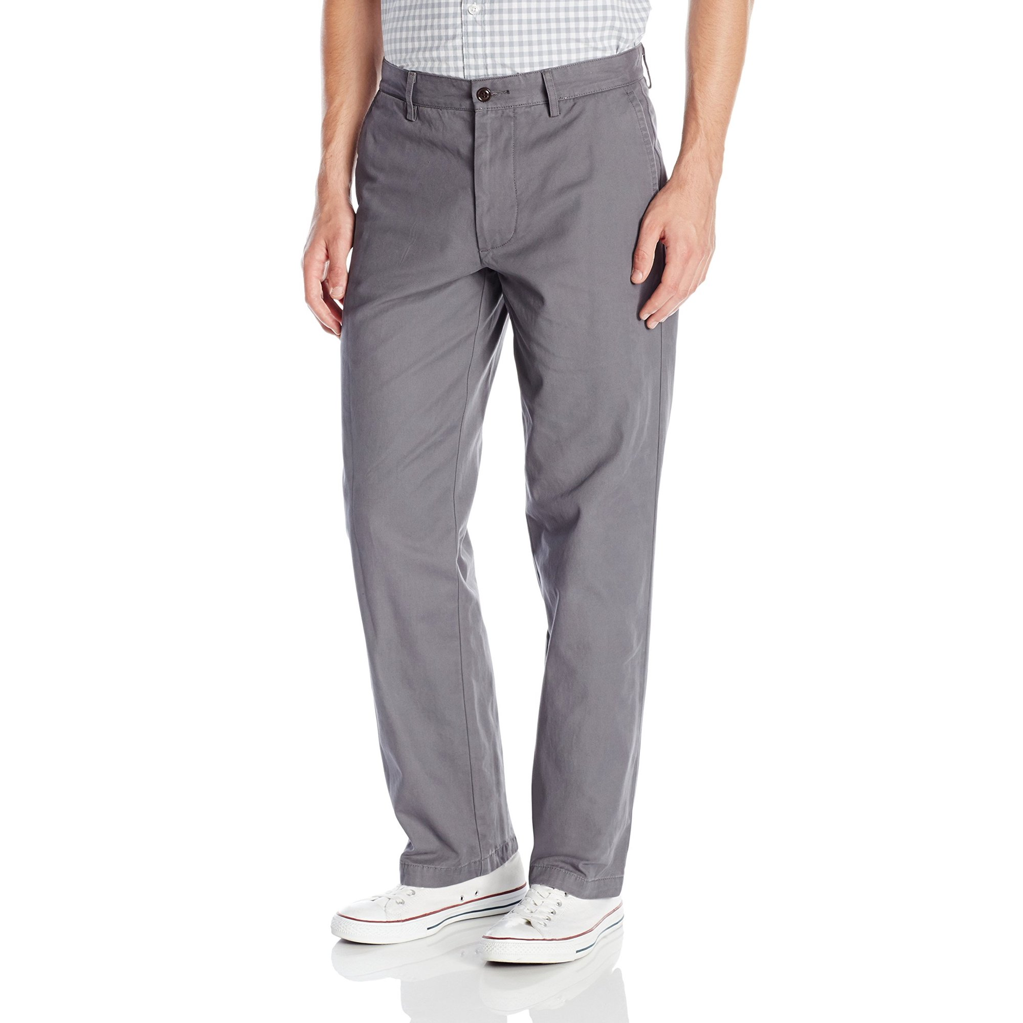 c64b2f8235 Dockers NEW Solid Gray Mens Size 38X29 Straight Fit Khakis Chinos Pants
