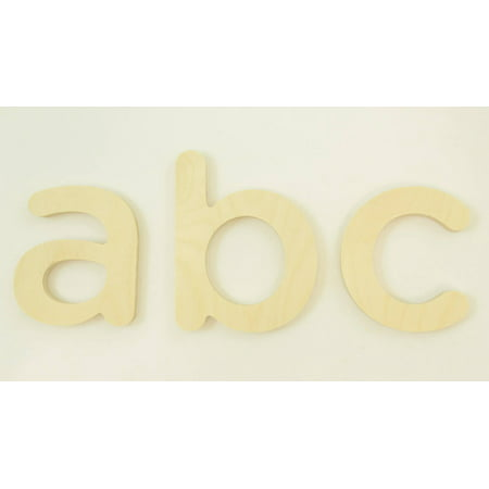 """Package of 1, 18 Inch X 1"""" Baltic Birch """"S"""" Wood Letters In The Gotham Rounded Font  Thick  Lower Case For Art & Craft Project, Made in USA"""