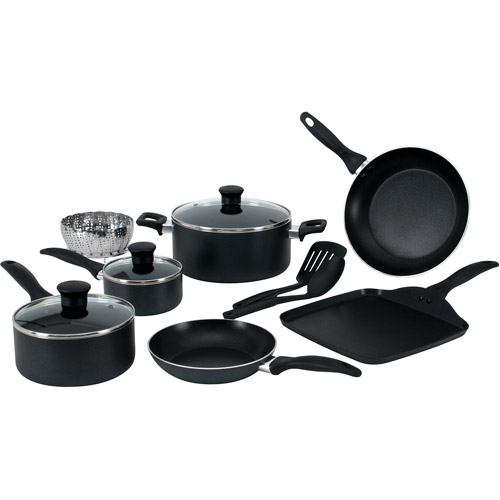 T-Fal 12-Piece Easy Care Non-Stick Cookware Set, Gray