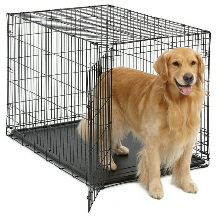 MidWest Single Door iCrate Metal Dog Crate (Midwest Icrate Double Door Folding Dog Crate)