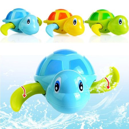 Baby Bath Toys Toddler Cute Turtle Animal Wind Up Chain Bathing Water Toy Float Pool Swimming Bathtub Playing Toy for Boys Girls - Set of -