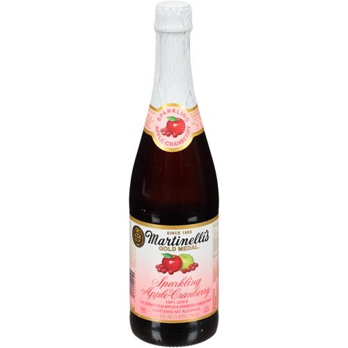 ***Discontinued***Martinelli's Gold Medal Sparking Apple-Cranberry, 100% Juice, 25.4 fl oz, (Pack of 12)