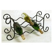 6 Bottle Wrought Iron Wine Rack (Aged Iron)