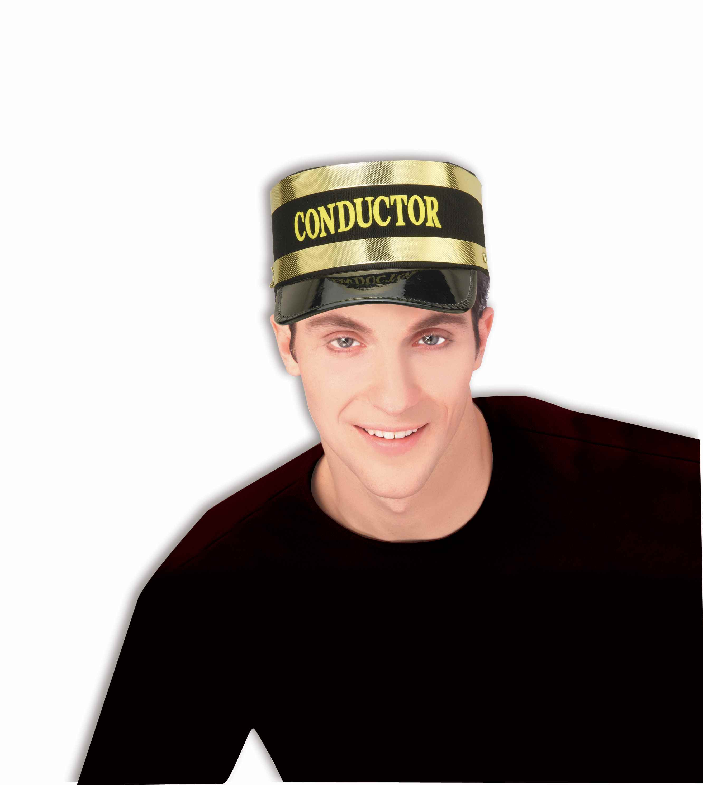 Train Conductor Hat Cap Railroad Operator Uniform Costume Adult 68491bcdbbd
