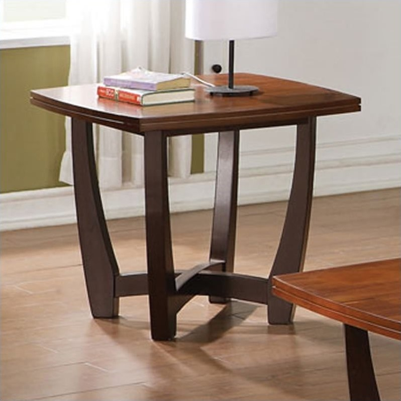 Bowery Hill End Table in Cherry Finish - image 1 of 3