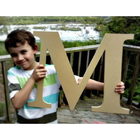 Paintable Wood Letter, 24'' Times M, Large Wooden Letter, Craft