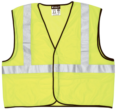 SAFETY WORKS CVCL2MLXL Class2 Mesh Safety Vest, Lime Green