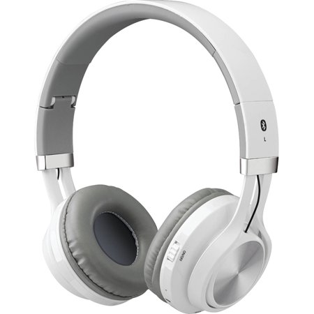 ilive iahb56w bluetooth wireless headphone with microphone white. Black Bedroom Furniture Sets. Home Design Ideas