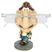 (D) Eyeglass Holder Display Stand for Men, Fireman, 5 Inches, Gift for Men