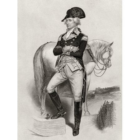 George Washington 1732 To 1799 In 1775 After Alonzo Chappel From Life And Times Of Washington Volume 1 Published 1857 Posterprint