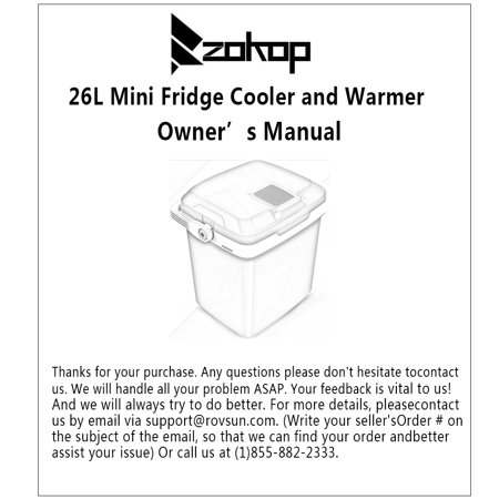 Zimtown Fridge Cooler and Warmer 26L Electric Mini Thermoelectric Dual Cooling Warming Digital Plug In Refrigerator for Car, Travel, Beach, Office - image 3 of 9