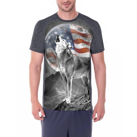 Mens Americana Sublimation Graphic Tee