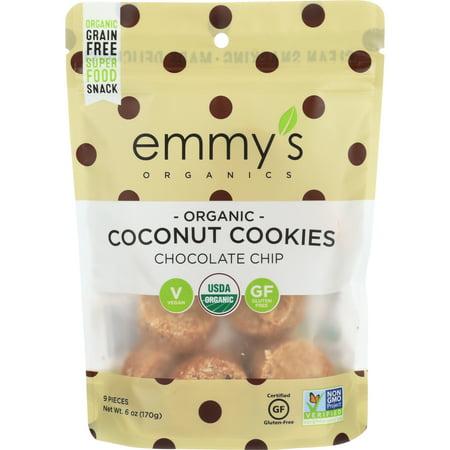 Emmy's Organics Coconut Cookies Chocolate Chip - Easy Vegan Halloween Cookies