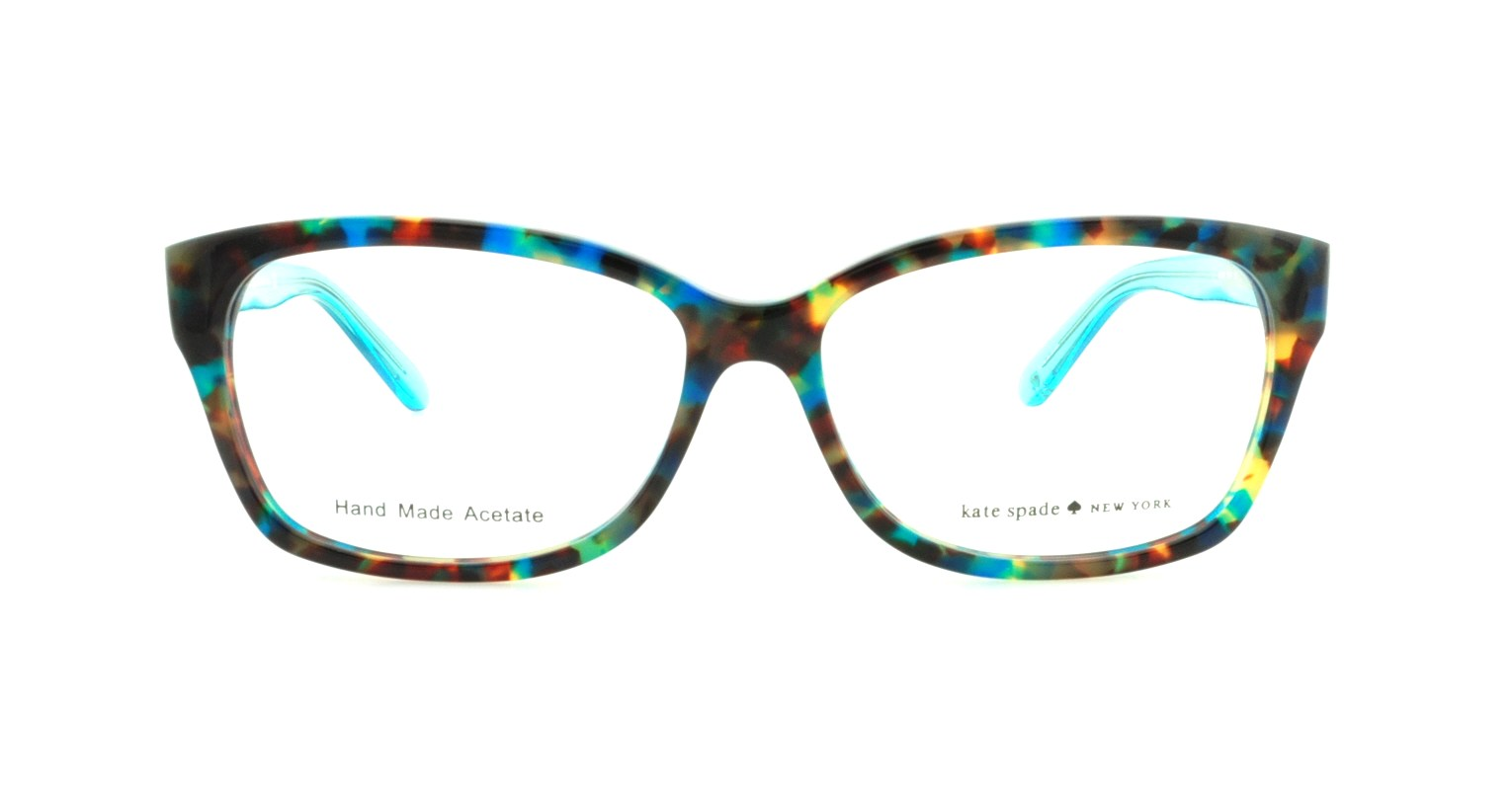 KATE SPADE Eyeglasses DEMI/F 0FB1 Teal Havana Teal 54MM - Walmart.com