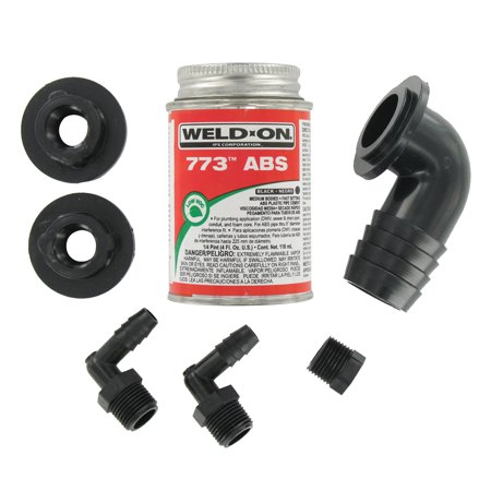 Valterra RK907 ABS Tank Fill Kit 90 Barbed Fill with Cement