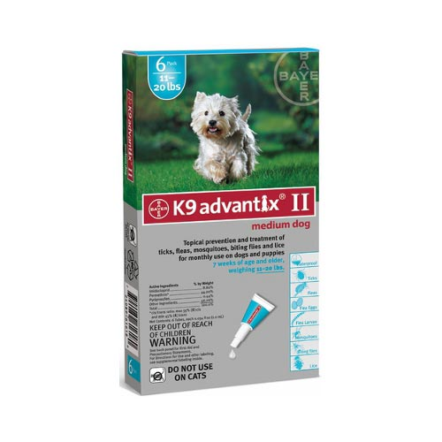 Advantix Flea and Tick Control for Dogs 10-22 lbs 6 Month Supply by Advantix