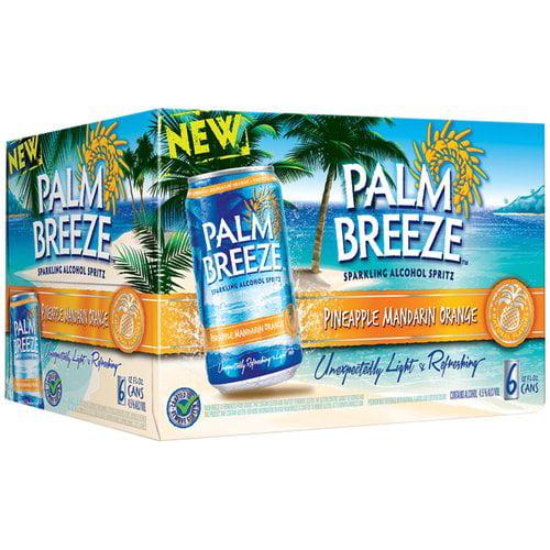 Palm Breeze Pineapple Mandarin Orange Sparkling Alcohol Spritz, 12 fl oz, 6 pack