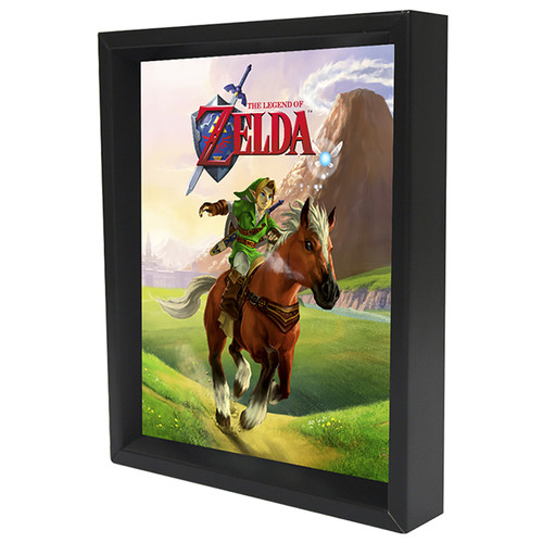 Pyramid America Nintendo 'Zelda Gallop' Framed Graphic Art Print