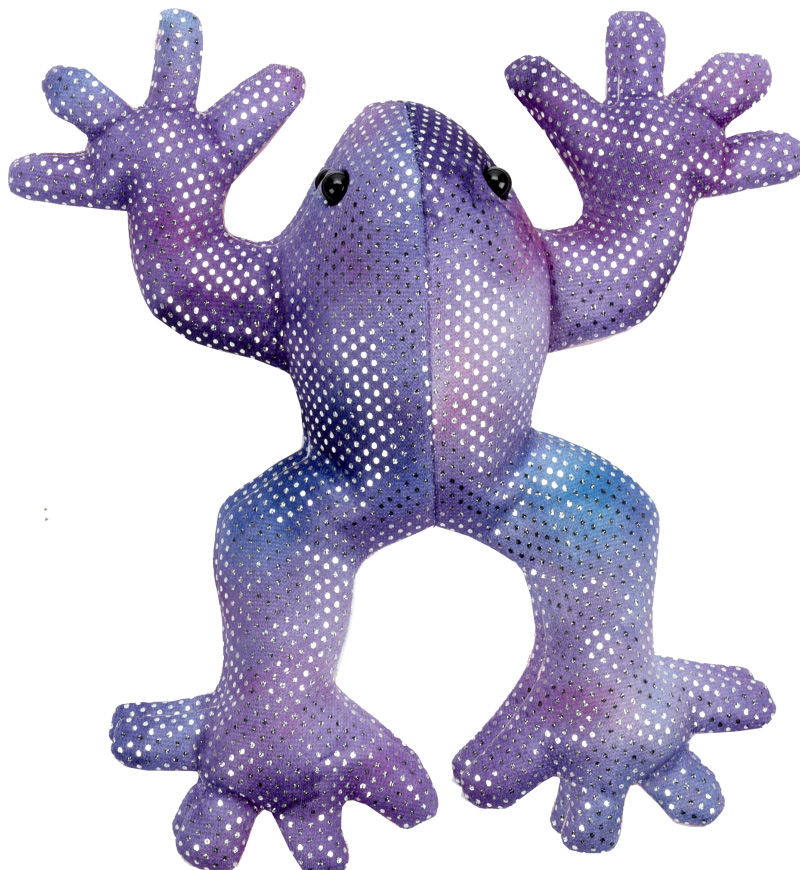 Shimmering Violet/Blue Fade Bean Bag Rainforest Frog - By Ganz