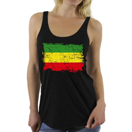 Awkward Styles Rasta Flag Clothes Jamaica T Shirt for Women Rasta Flag Racerback Tank Top for Girls Rasta Flag Ladies Shirt Bob Marley Fans Reggae Lovers Gifts Reggae Party Rasta Racerback Tanks Adult Racer Girl