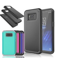 Galaxy S8 Case, Rugged Rubber Shock Absorbing Hybrid Plastic Impact Defender Slim Hard Case Cover Shell For Samsung Galaxy S8 All Carriers Njjex [New Ball]