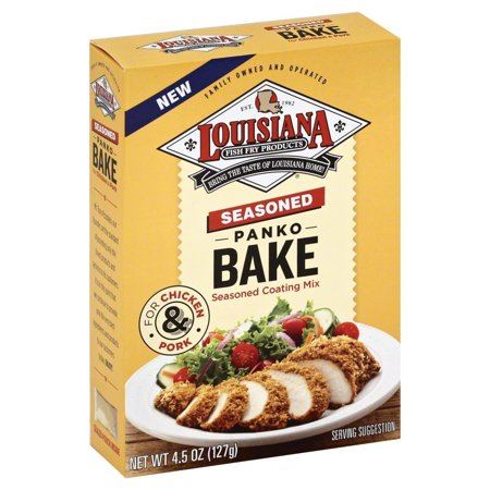 Louisiana fish fry products seasoned panko bake 4 5 oz for How to season fish for baking