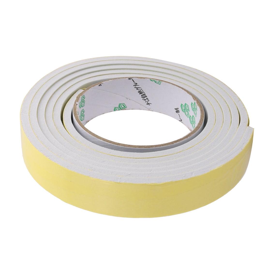 5pcs 3Meter 25mm x 5mm Single-side Adhesive Shockproof Sponge Foam Tape Yellow