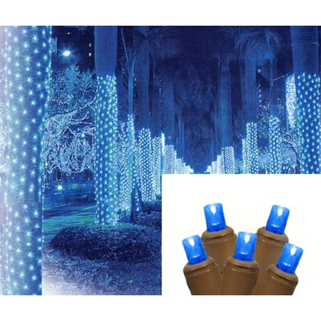 2 X 8 Blue Led Net Style Tree Trunk Wrap Christmas