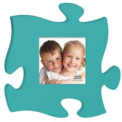 Teal 12 X 12 Wall Hanging Wood Puzzle Piece Photo Frame Walmartcom