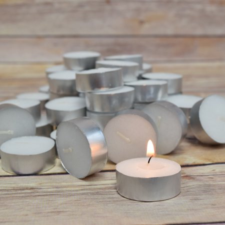 Fantado Wax Tea Light Candles in Bulk, Unscented Standard (50 Pack) by PaperLanternStore